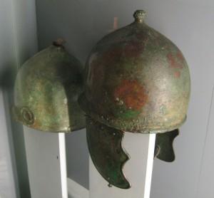 Bronze Roman helmet (Montefortino type; Allard Pierson Museum, Amsterdam).