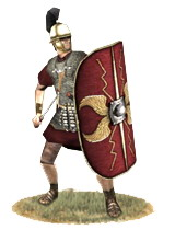 Roman legionary, 1st century BCE (source: Europa Barbarorum).