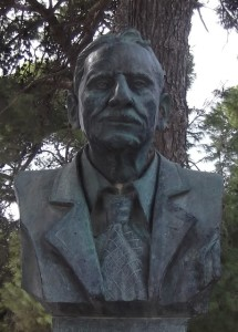 Bust of Sir Arthur Evans.