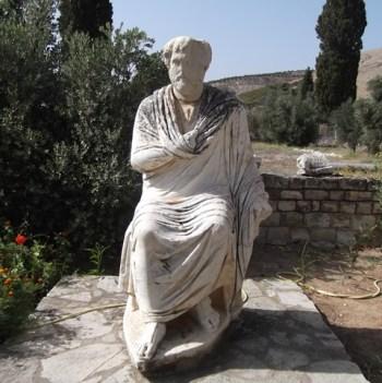 Roman statue found at Gortys.