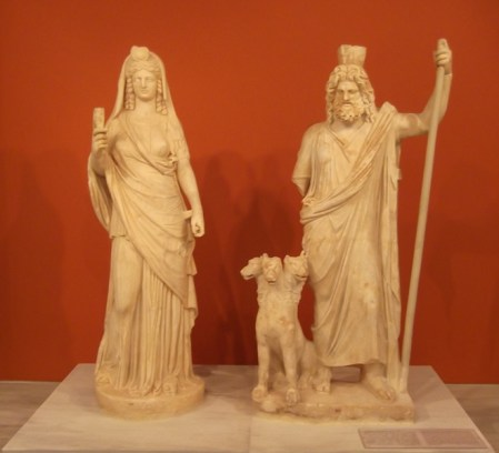 Isis and Serapis.