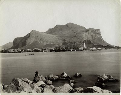 Monte Pellegrino (photo by Giorgio Sommer, before 1914).