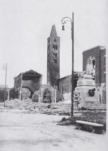 The San Giovanni after the 1944 bombardment (photo: Public Domain).