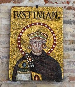 Mosaic of Justinianus.