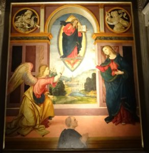 Annunciation by Raffaellino del Garbo.