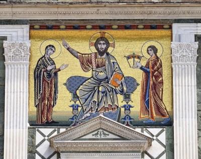 Facade mosaic.