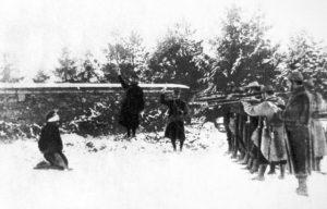 Executie door Franse soldaten.