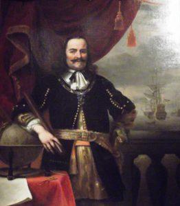 Michiel de Ruyter door Ferdinand Bol (Mauritshuis, Den Haag).