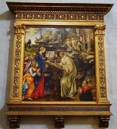 Apparition of the Virgin to Saint Bernard by Filippino Lippi.