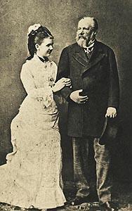 Koning Willem III en zijn tweede vrouw, Emma van Waldeck-Pyrmont (foto via Wikimedia Commons).