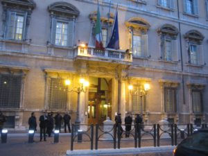 Ingang Palazzo Madama.