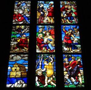 Old Testament scenes.