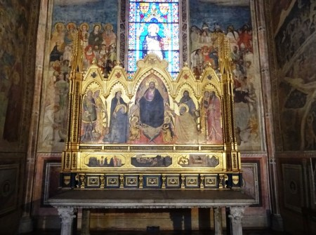 Altarpiece by Orcagna in the Cappella Strozzi di Mantova.