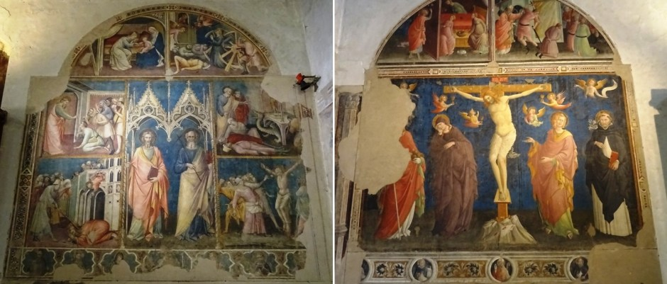 Frescoes by father and son Aretino.