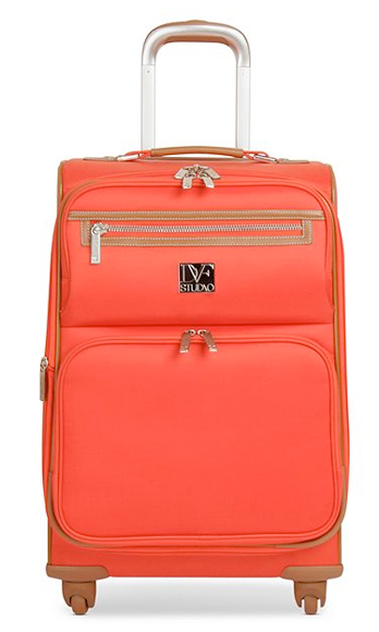 This stylish carry-on bag will leave fellow passengers jealous of your travel duds. Diane von Furstenberg Suitcase, $120, macys.com