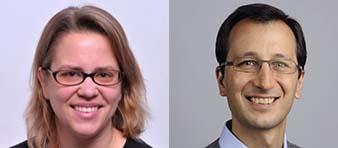 Associate Professor Erin Cram and Assistant Professor Javier Apfeld