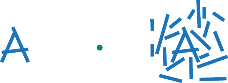 crowding demonstration with several sticks on either side of a green dot