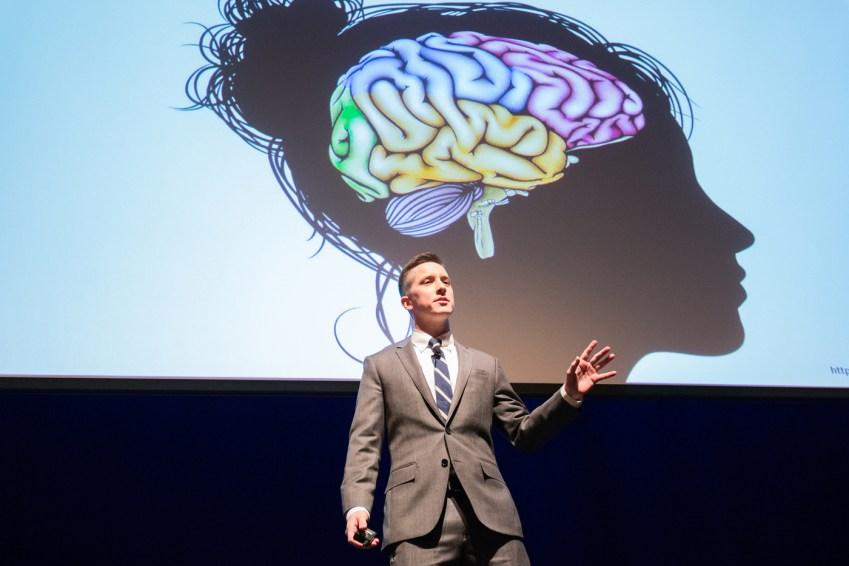 Patrick Glover speaks during NU Talks 2017.