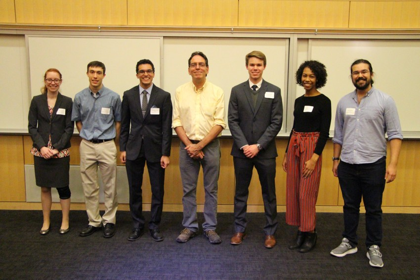 Seven students standing together at ASBMB Active site meeting