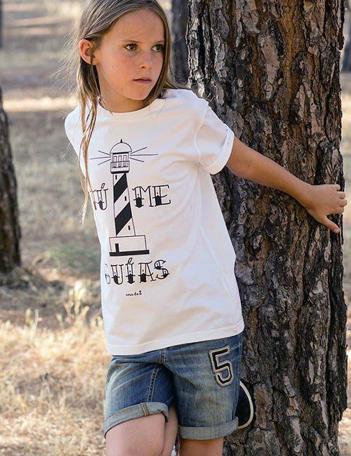 """Camiseta para chicos """"Tú me guías"""""""