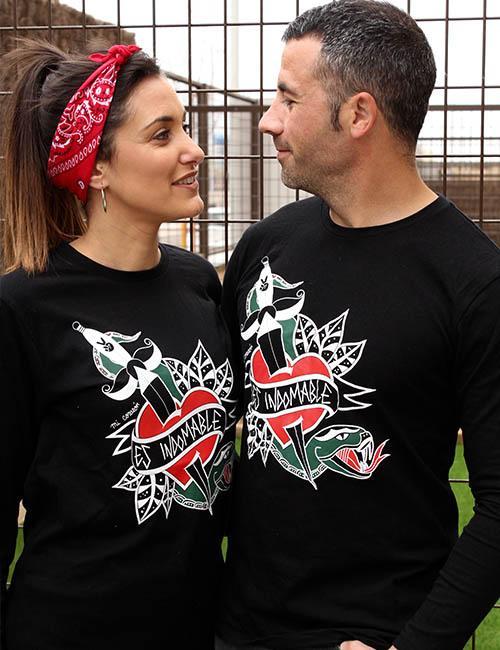 "Camiseta unisex mangas largas ""Mi corazón es indomable"""