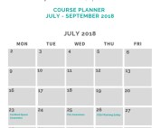 Cosaint Training July 2018 Course Planner