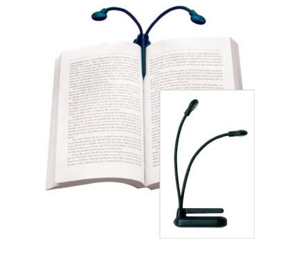lámpara doble para libro