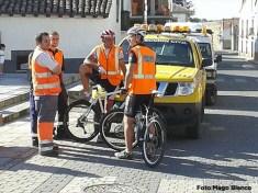 Hasta Protección Civil monto en bici