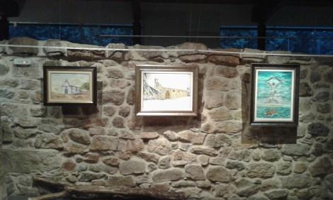 Alguno de los cuadros al óleo de José Luis Guijarro.