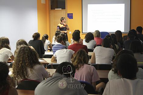Una de las clases del curso