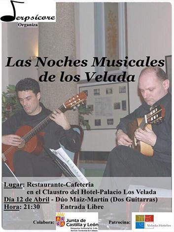 """Dúo Maíz-Martín, en una actuación de """"Las Noches Musicales de los Velada"""""""