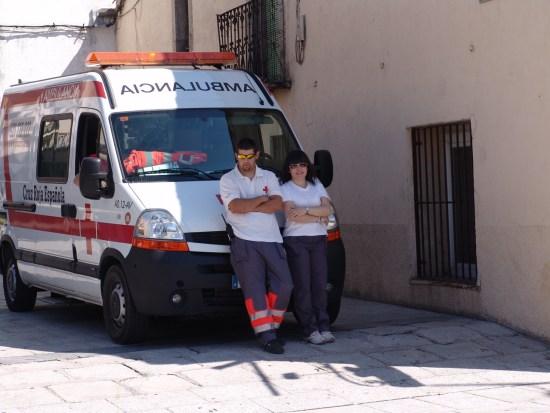 Y como siempre con la presencia de nuestros voluntarios de Cruz Roja