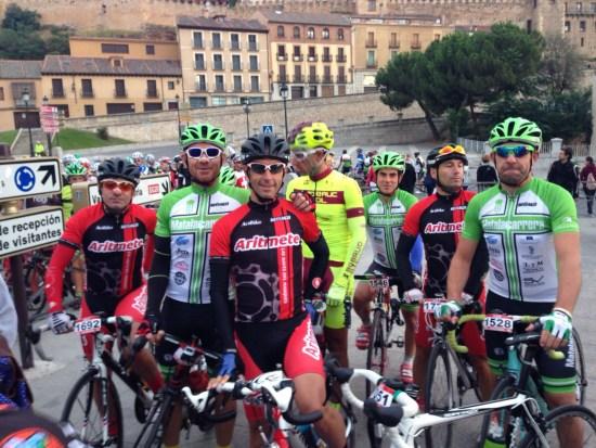 En la imagen: Juan Carlos, Nano, Daniel, Carlos, Alejandro, Alfonso y Jose
