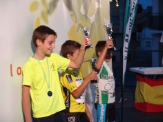 NIÑOS DE 8 A 9 AÑOS-1º Alejandro Lopez;2º Jorge Emilio Chicharro;3º Marco Antonio Ferrer