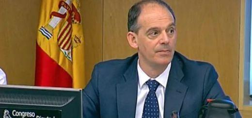 Manuel Morocho, inspector jefe de la UDEF, durante su comparecencia en el Congreso