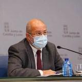 El vicepresidente de Castilla y León, Francisco Igea, en la rueda de prensa de este jueves. JCYL