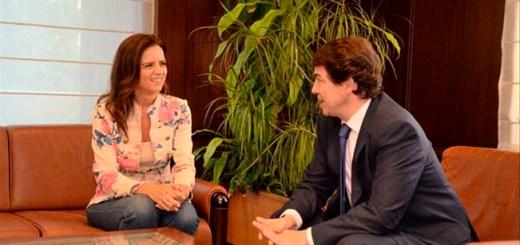 Ana Carlota Amigo y Alfonso Fernández Mañueco, en una imagen de archivo. Cs CyL