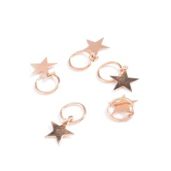 5pcs-Pack-Fashion-Alloy-Hairpins-For-Women-Gold-and-silver-Round-Star-Shell-Dreadlock-Updo-Hair