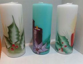 Vistas de velas de Navidad 1