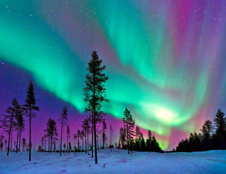 En el sur se llamam auroras australes o luces del sur