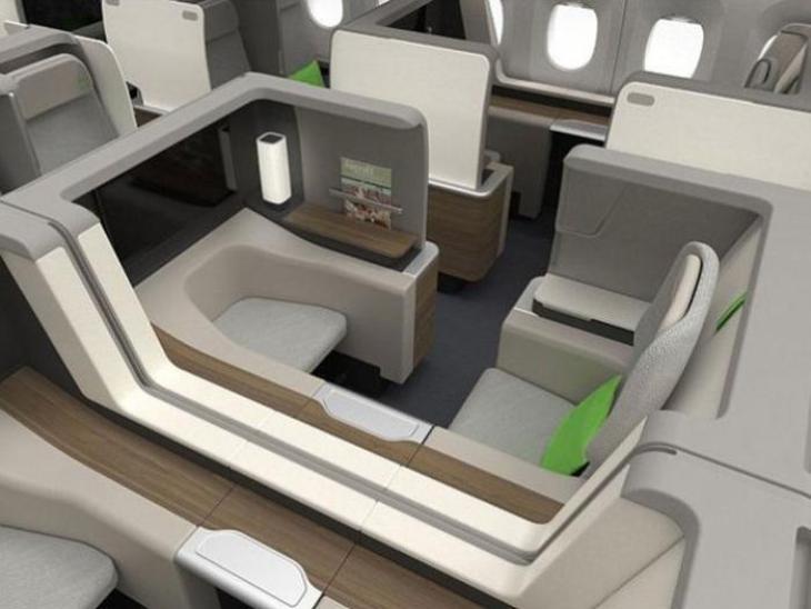 Así serán los asientos de los aviones en el futuro