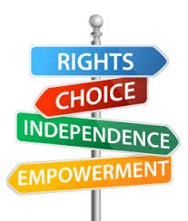 Poll with words: rights, choice, independence, empowerment