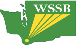 Logo: Outline of Washington state with WSSB initials imbedded into image.