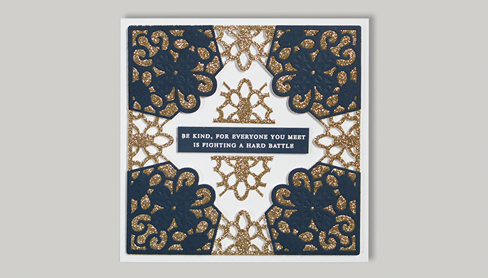 Classic Lace September Large Die of the Month | Be Kind Card Step 6