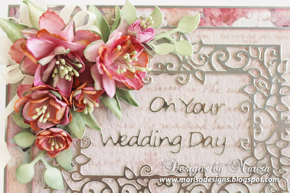 On Your Wedding Day Card: Timeless Heart Collection by Marisa Job: Close Up
