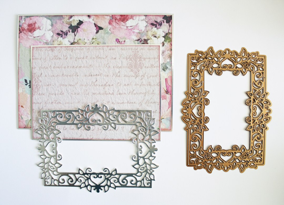 On Your Wedding Day Card: Timeless Heart Collection by Marisa Job: Step 3