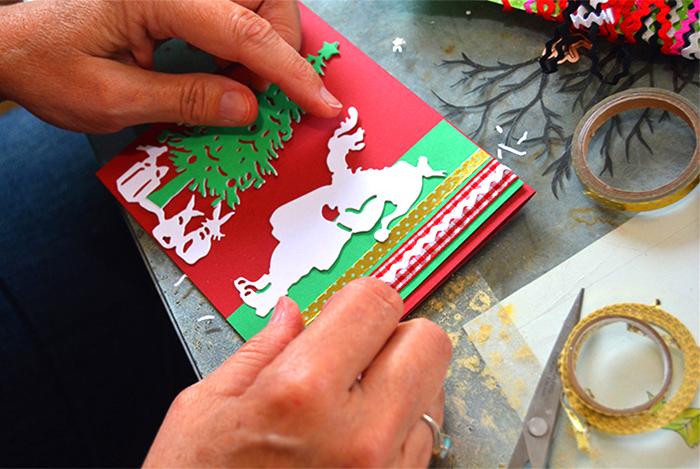 Santa Christmas Card Party with Sharyn Sowell - Step 4