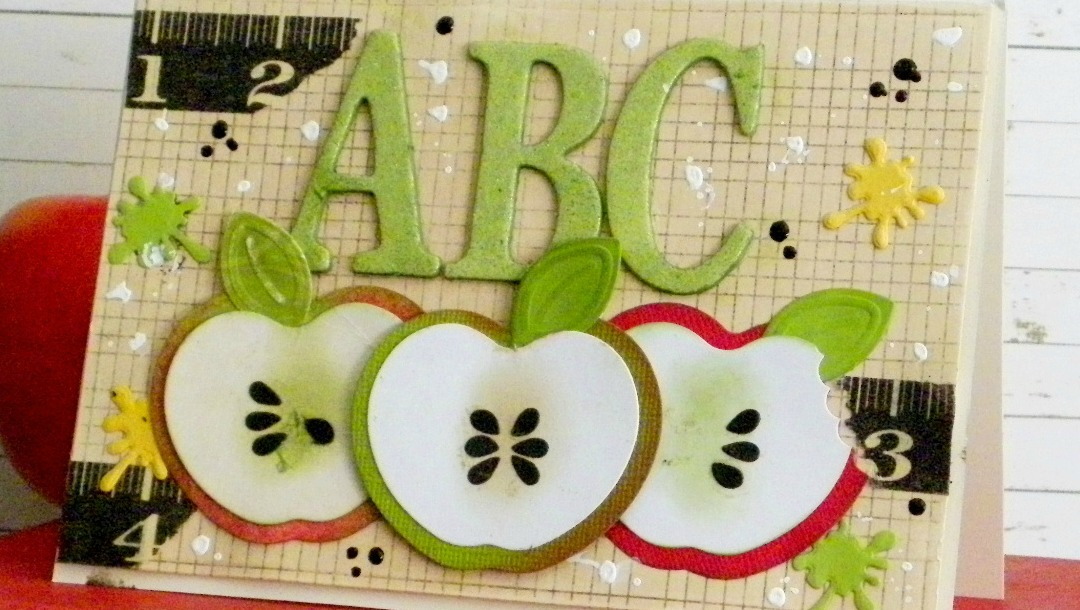 Back to School: An Apple for Teacher Card by Linda Lucas for Spellbinders Paper Arts Featured Image