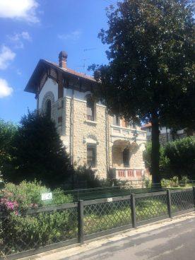 Villa dei dirigenti dell'antico villaggio operai a Crespi d'Adda