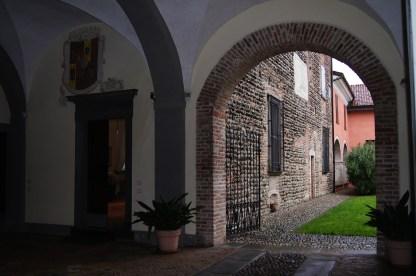 Il cortile interno di Palazzo Sauli
